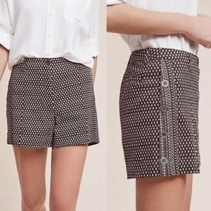 Anthropologie Cartonnier High Rise Brown Shorts